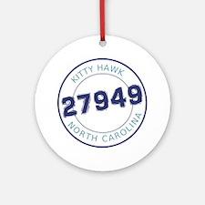 Kitty Hawk, North Carolina Zip Code Round Ornament