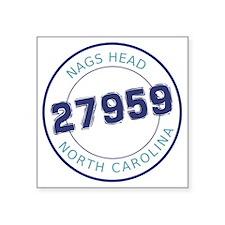 "Nags Head, North Carolina Z Square Sticker 3"" x 3"""