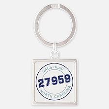 Nags Head, North Carolina Zip Code Square Keychain