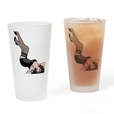 Pinup Line Drawing Drinking Glass