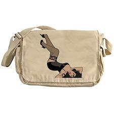 Pinup Line Drawing Messenger Bag