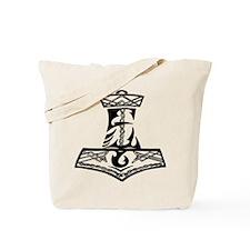Black Celtic Thors Hammer Tote Bag