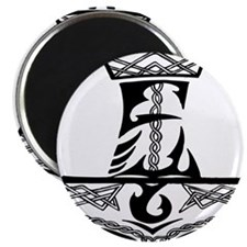 Black Celtic Thors Hammer Magnet