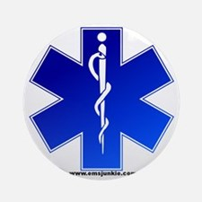 Star of Life Logo Round Ornament