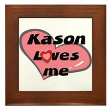 kason loves me  Framed Tile