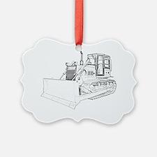 Bulldozer in bw Ornament
