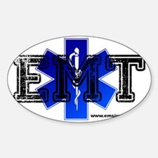 EMT Star of Life Sticker (Oval)