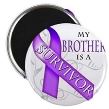 My Brother is a Survivor (purple) Magnet