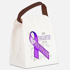 My Daughter is a Survivor (purple Canvas Lunch Bag