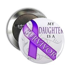 "My Daughter is a Survivor (purple) 2.25"" Button"