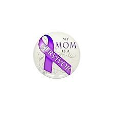 My Mom is a Survivor (purple) Mini Button