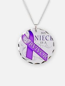My Niece is a Survivor (purp Necklace