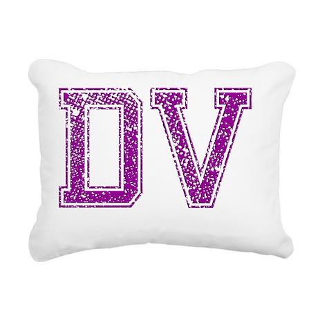 DV, Vintage Rectangular Canvas Pillow