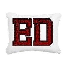 ED, Vintage Rectangular Canvas Pillow