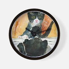 Kitten in the Mirror Wall Clock
