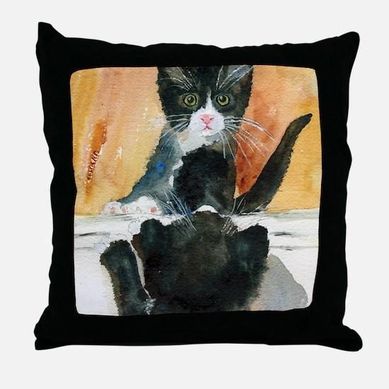 Kitten in the Mirror Throw Pillow
