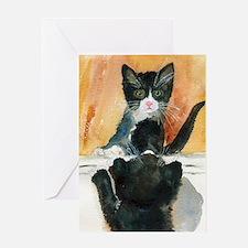Kitten in the Mirror Greeting Card