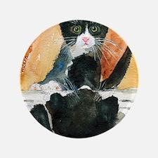 """Kitten in the Mirror 3.5"""" Button"""