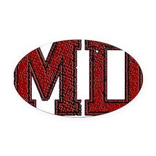 MD, Vintage Oval Car Magnet