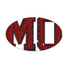 MO, Vintage Oval Car Magnet