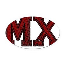 MX, Vintage Oval Car Magnet
