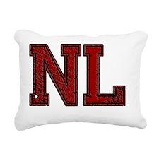 NL, Vintage Rectangular Canvas Pillow