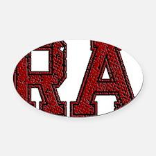 RA, Vintage Oval Car Magnet