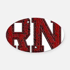 RN, Vintage Oval Car Magnet