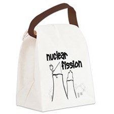 funny nuclear fission Canvas Lunch Bag