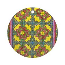celtic art Round Ornament
