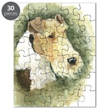 Fox Terrier - Artwork by Paula Cook Puzzle