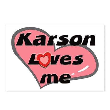 karson loves me Postcards (Package of 8)