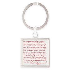 Romeo  Juliet Square Keychain