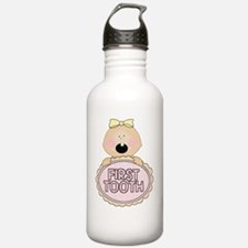Girl Babys First Tooth Water Bottle