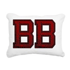 BB, Vintage Rectangular Canvas Pillow