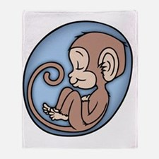 monkey-womb-T Throw Blanket