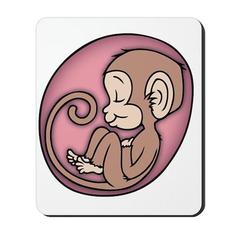 monkey-womb-pnk-T Mousepad