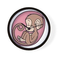 monkey-womb-pnk-T Wall Clock