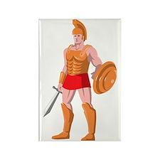Gladiator Centurion Standing Rectangle Magnet