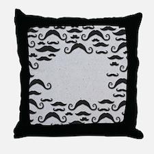 Mustache Frame Throw Pillow
