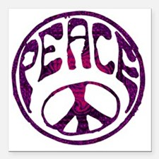 "deep peace Square Car Magnet 3"" x 3"""