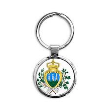 San Marino Round Keychain