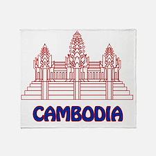 Cambodia Throw Blanket
