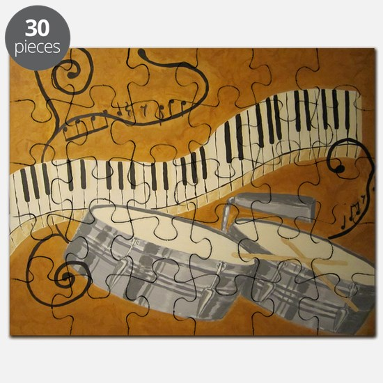 salsa painting with timbales and piano Puzzle