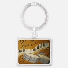 salsa painting with timbales an Landscape Keychain