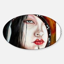 Red Sticker (Oval)