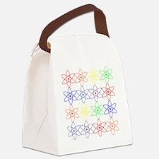 Nuclear nuke atom reactor rainbow Canvas Lunch Bag