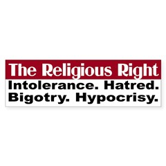 The Religious Right (bumper sticker)