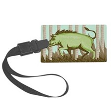 Razorback Wild Pig Boar Attackin Luggage Tag