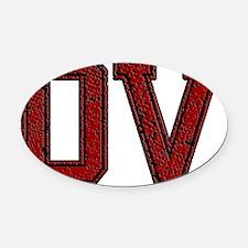 DV, Vintage Oval Car Magnet